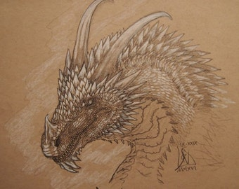 Frost Dragon, white dragon, monster, creature, fantasy art, original art, fantasy, illustration, snow dragon, ice dragon, medieval