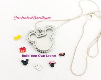 Mickey Necklace ~ Disney Jewelry ~ Living Locket Necklace ~ Mouse Ears Jewelry ~ Disney Lover ~ Disney Wedding Party ~ Disney Fan ~ Disney