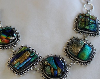 Dichroic Glass Bracelet-8.5 inches!