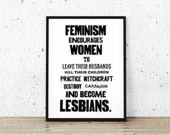 Feminist Poster | Feminism Poster | Feminist Quotes | Art Print | Gifts for Her | Posters for Her | Prints for Her | Black and White Print