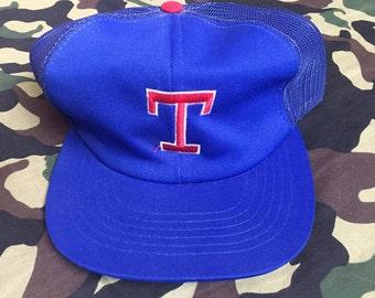 Vintage TEXAS RANGERS Trucker Hat