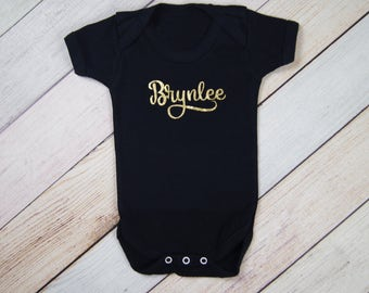 Personalized Name Bodysuit - Coming Home Outfit - Girls Bodysuit - Boys One Piece - Newborn Name Bodysuit - Newborn Photo Outfuit