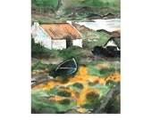 Moss Cove Donegal Ireland Original Watercolor Painting