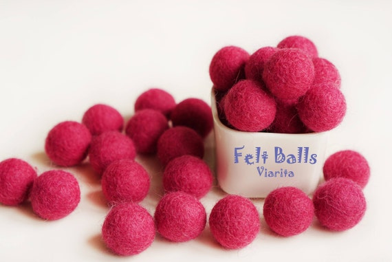 Wool Felt Ball 20mm Felt Balls Wool Pom Pom Gumball