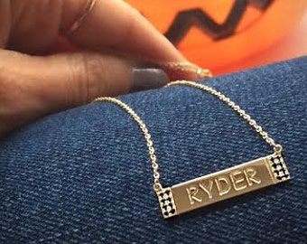 Diamond Accent Nameplate - Personalized Necklace
