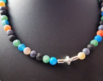 Cheerful multi colored necklace