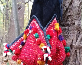 Vintage Banjara Dowry Bag,  Up cycled Gypsy Bag,