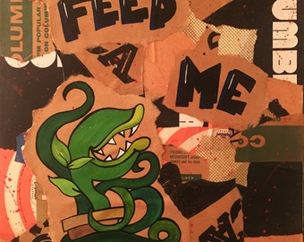 Feed Me - Little Shop Of Horrors Record Sleeve Collage