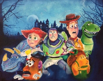 Oil on canvas.- TOY STORY of TERROR.