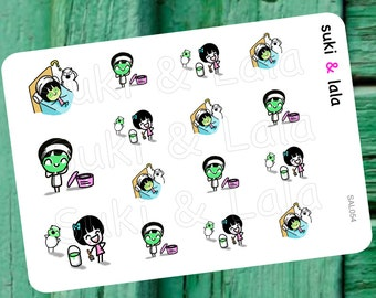 FACIAL Planner Stickers, Face Mask Planner Stickers, Face Masque Planner stickers, Skin Care Planner Stickers (SAL054)