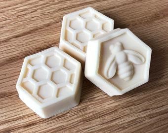 Milk and Honey Soap, Honeycomb Soap, Goat's Milk and Organic Honey, Mother's Day Gift, Discount for Larger Quantities! (Read Description)
