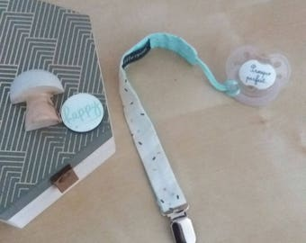 BALANCE pacifier clip / pacifier blue-20% with coupon code: SOLDESSUMMER20