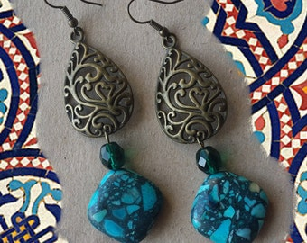 Turquoise Rumble Earrings