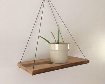 Hanging plant shelf