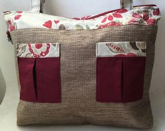 Handbag Tote in upholstery fabric - Ref type: S40