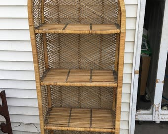 Authentic Hand Crafted Wicker Shelf