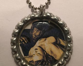 Wolf Man Bottle Cap Pendant