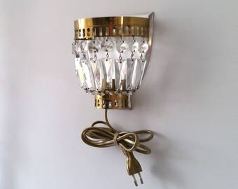 French antique wall lamp