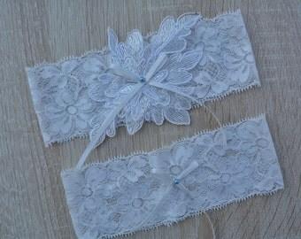 Lace Garter, Wedding Garter, Bridal Garter Set, White Garter, Elegant Garter, Bridal Garter, Lace Garter Set, Toss Garter, Simple Garter