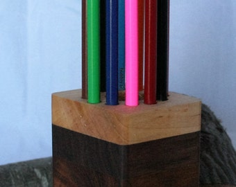 Handcrafted Wooden Color Pencil Holder (PH3)