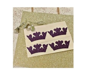 Crown stickers, Crown favor sticker, Crown favor bag, Princess sticker, Crown envelope seal, Princess envelope seal, Wedding stickers