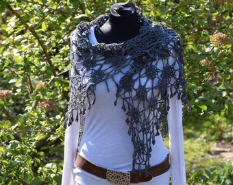 """""""Amiadog"""", shawl, stole scarf crochet"""