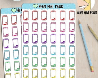Cell Phone Planner Stickers / Mobile Phone / Texting / SMS / Phone Bill Stickers  / B21