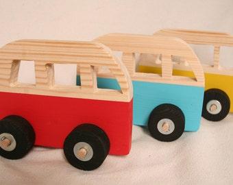 Wooden Toy Campervan