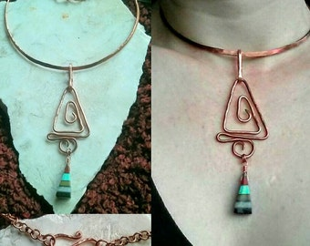 Copper & Stone Choker