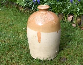 Antique stoneware,stoneware flagon,stoneware jug,stoneware,vintage stoneware,scottish stoneware,whisky flagon,whisky collectables,whisky jar