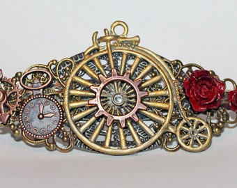Steampunk Bicycle Barrette