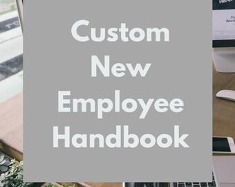 Custom New Employee Handbook