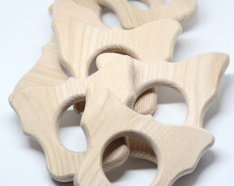 Butterfly wooden teether / Baby teething toy
