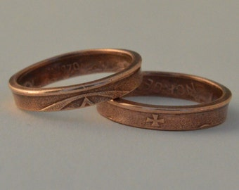 Coin ring, coin ring size(US) 8 / Größe(DE) 18;size/Größe(mm/inches): 57 / 2 5/16