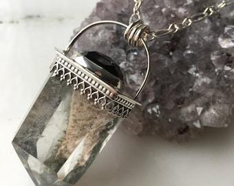The Elemental Amulet - Lodolite (Shamanic) Quartz Crystal