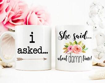 Engagement Gift, She Said Yes Mug, I said Yes, Engagement Mug, Engagement Announcement Mug, Bridal Shower Gift, Coffee Mugs,  AAA_001