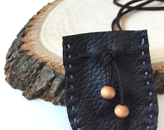 Mini Dark Chocolate Buckskin Medicine Bags