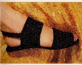 Vintage Sandal Slippers Crochet Pattern