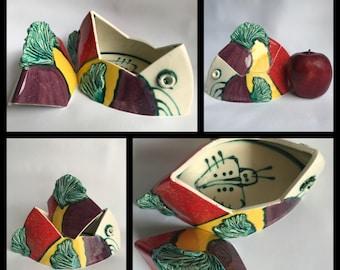 Ceramic fish box