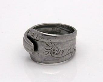 Spoon Ring - Size 9 - Hand Bent By The CrafsMan - Steady Craftin'