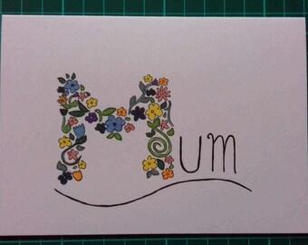 Mum - floral motif