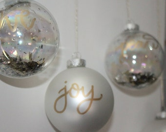 Christmas ornaments ( set of 4)