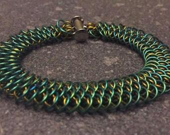 Dragonscale Niobium Bracelet