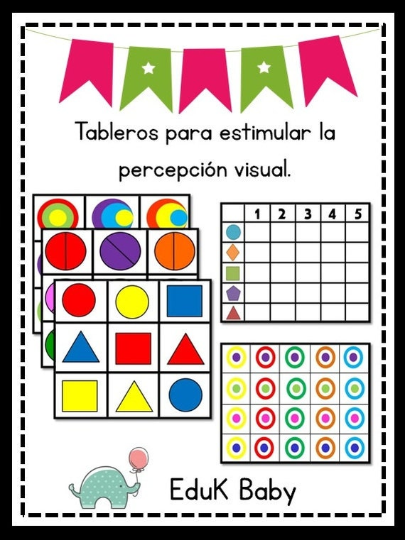 Tableros para estimular la percepción visual.