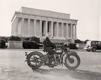 First Woman with Motorcycle License in Washington DC, Photo, Harley Davidson Photography, Girlfriends, Friendship, Wall Art, Gift, For Her