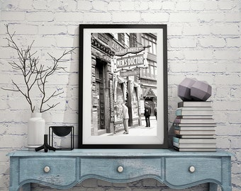 Quirky Photo, Quack Doctor, Oddities, Wall Decor, Poster, Industrial Decor, Fun Photo, Black and White, Gift For Him, Father's Day
