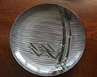 Vintage Occupied Japan porcelain Bamboo pattern Platter marked Ucagco UGC