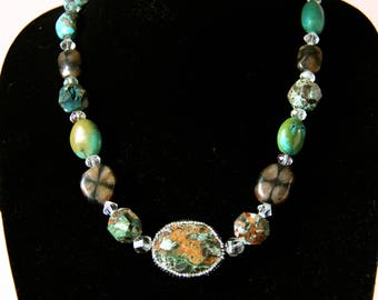 Atlantis Necklace: Sea Jasper and Turquoise