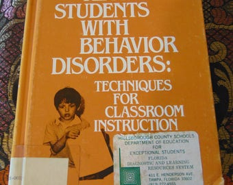 Teaching Students with Behavior Disorders 1979 Patricia A Gallagher   Techniques for Classroom Instruction