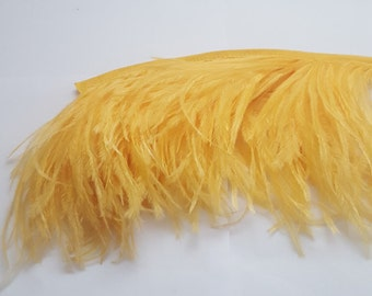 Yellow ostrich feather  fringe